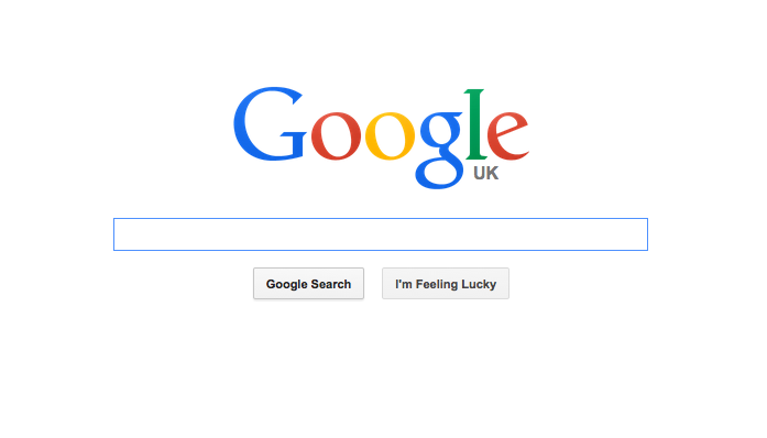 Google search box as of 2015