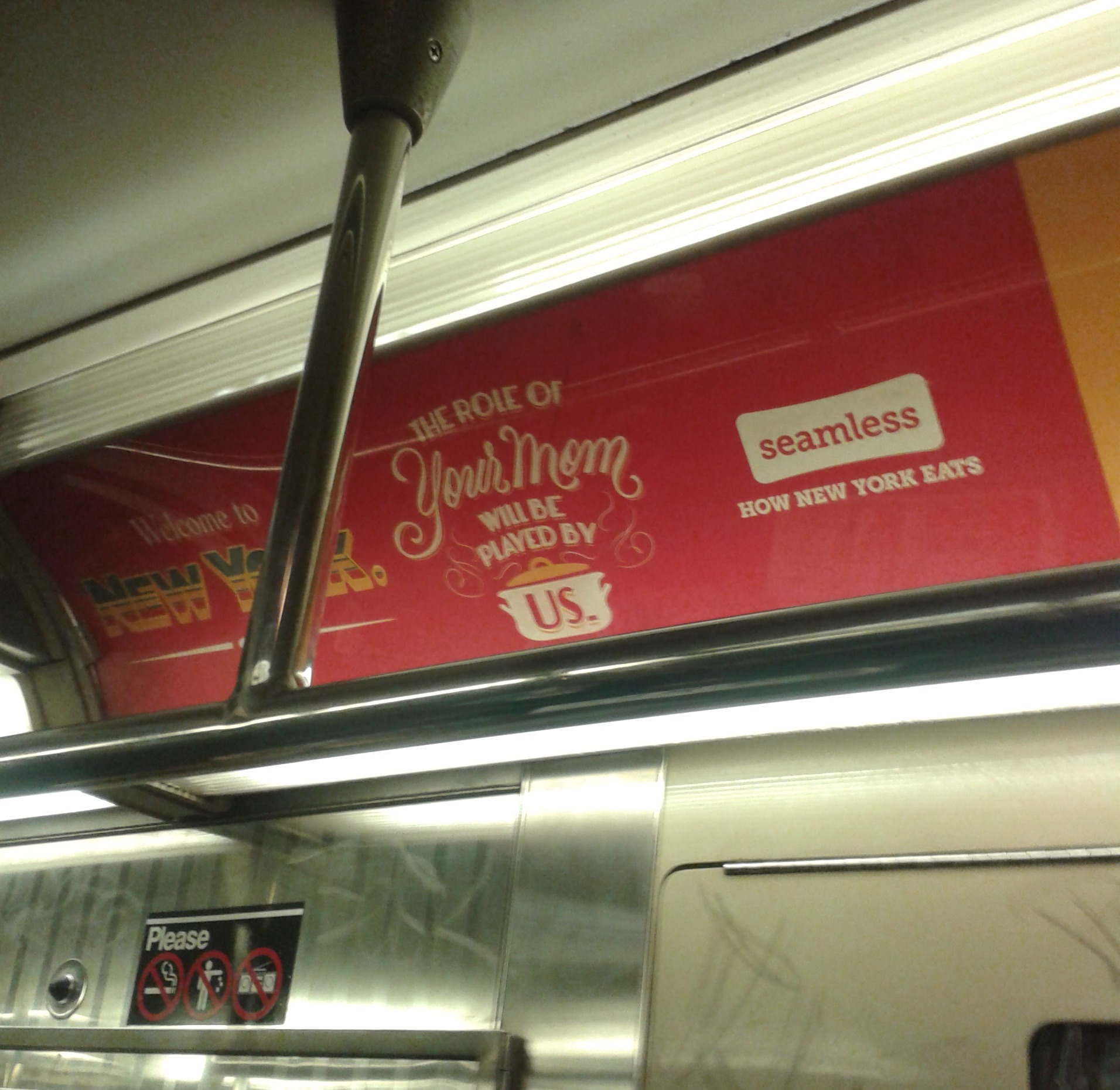 Subway ad for Seamless