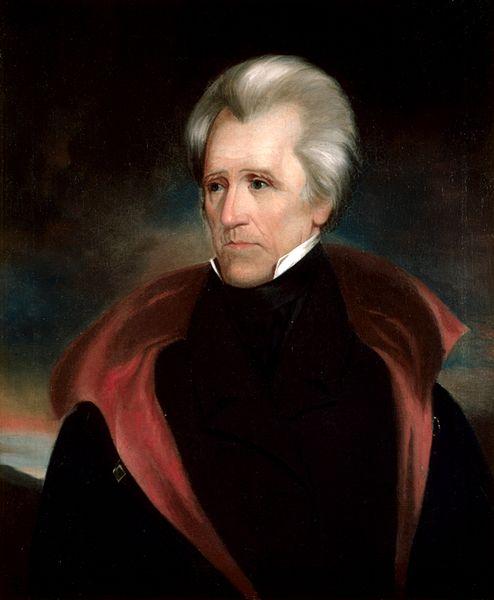 portrait of US President Andrew Jackson