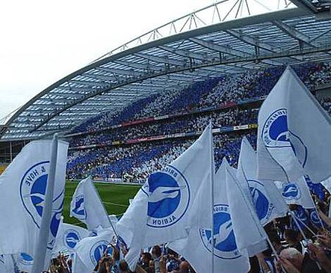 Brighton and Hove Albion football supporters