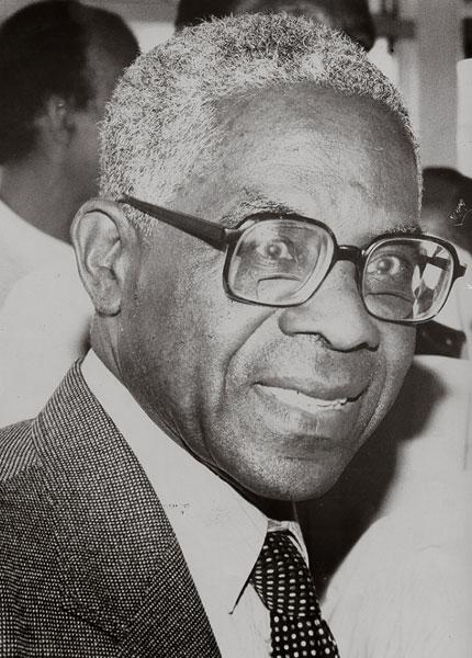 photograph of Aimé Césaire