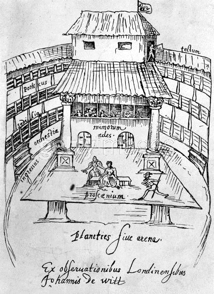 early modern drawing of the Swan Theatre, London