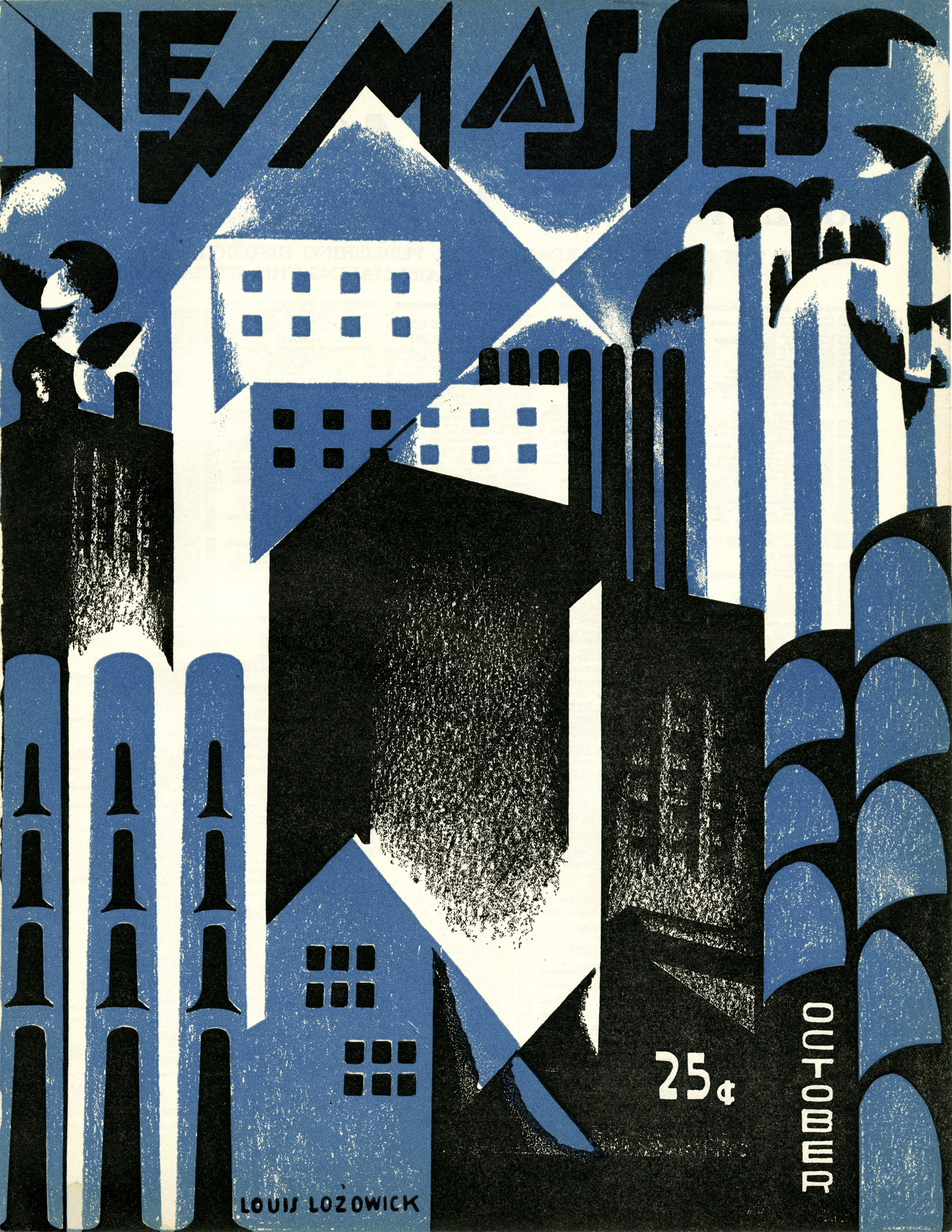 cover of New Masses magazine, October 1926