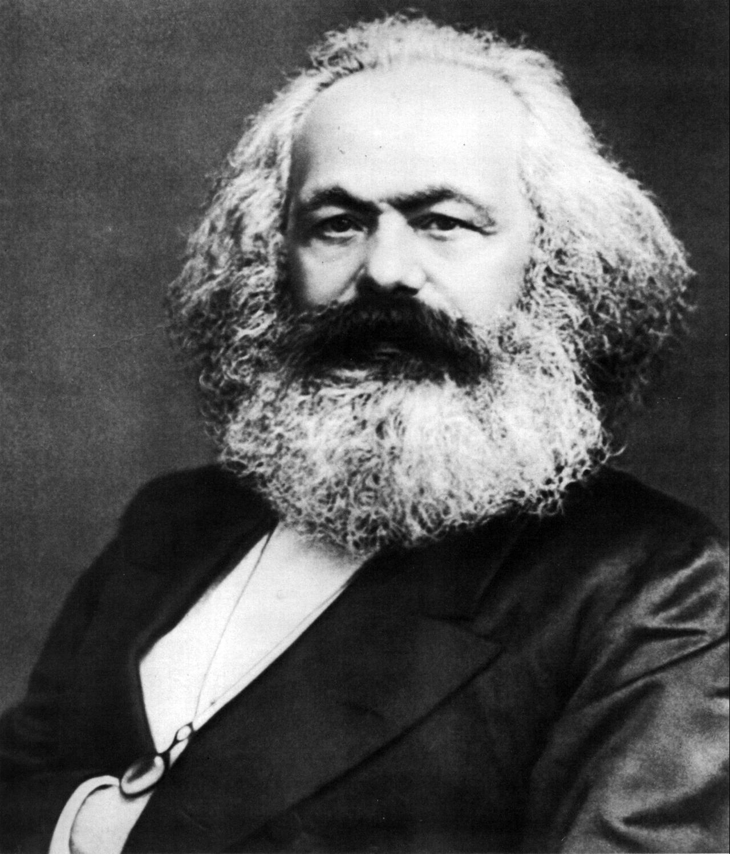 Karl Marx, black and white photo