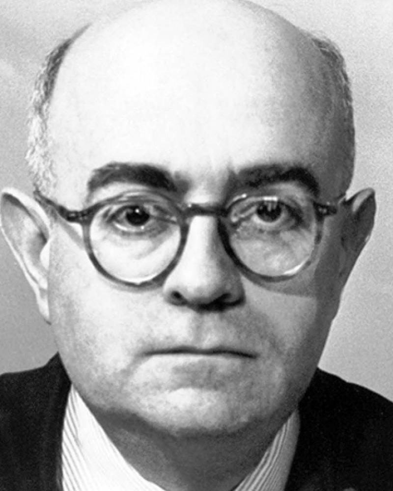Theodor W. Adorno, black and white photo