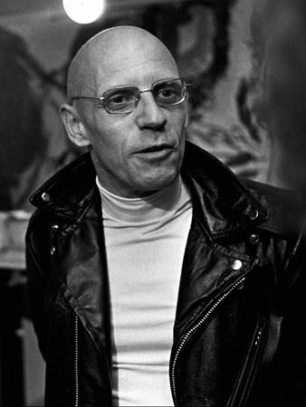 black and white headshot of Michel Foucault