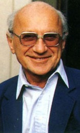 color photo of Milton Friedman