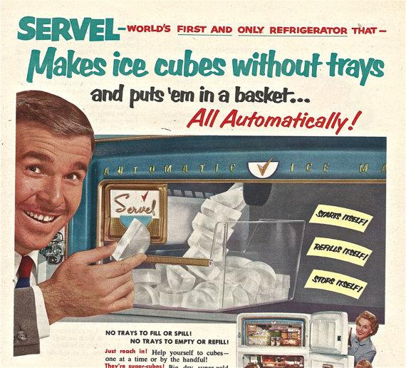 Servel refrigerator ad