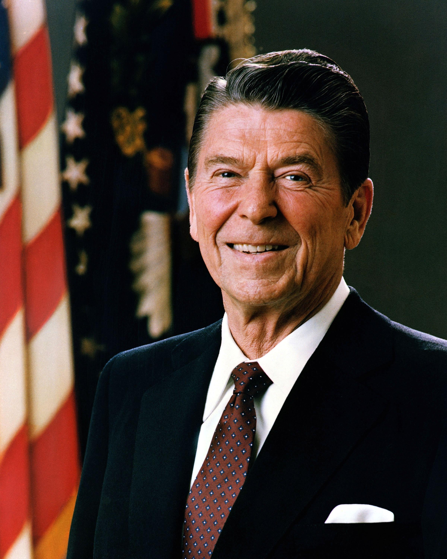 official photograph of Ronald Reagan