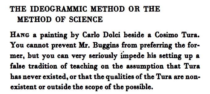 THE IDEOGRAMMIC METHOD OR THE METHOD OF SCIENCE