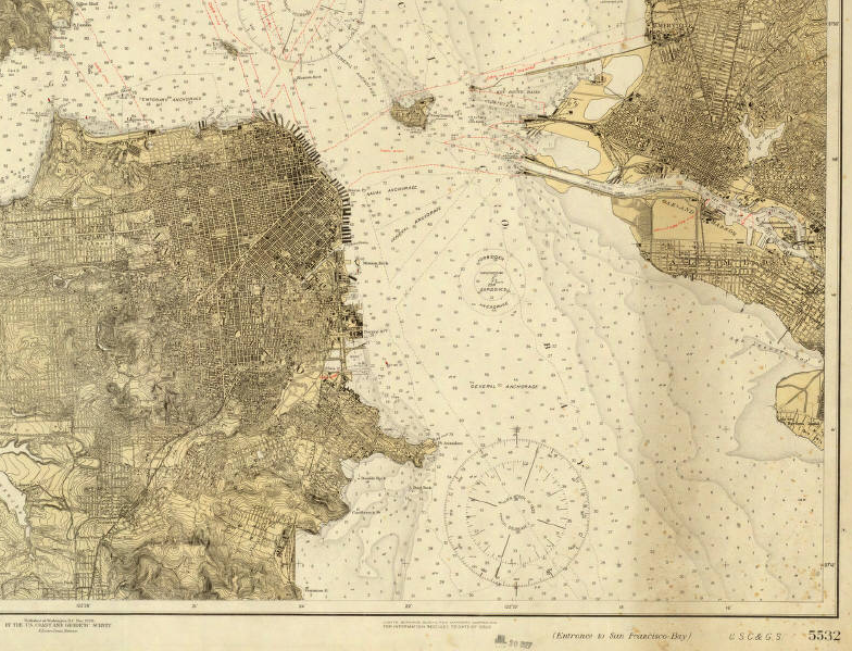 map of San Francisco Bay, 1926