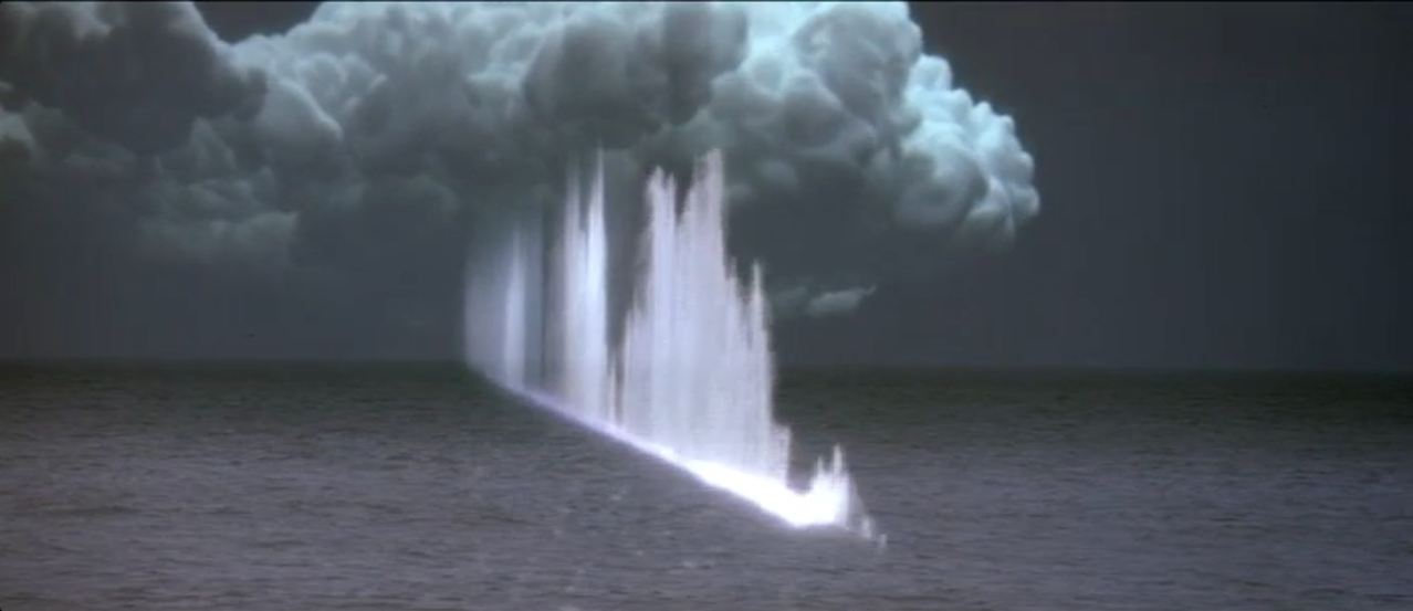 still from Star Trek IV: San Francisco Bay being vaporized by whale song