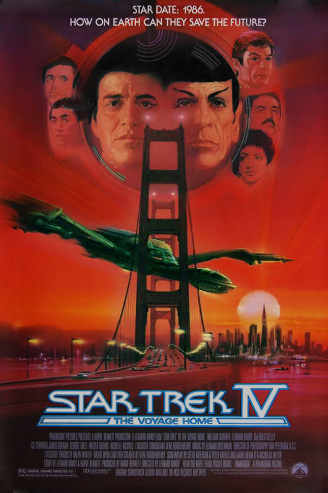 Film poster for Star Trek 4: The Voyage Home
