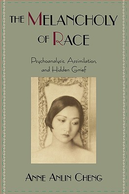 Cover of Anne Anlin Cheng's The Melancholy of Race. Green background with centered photograph of Anna May Wong.