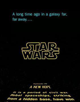 Opening shot of Star Wars.