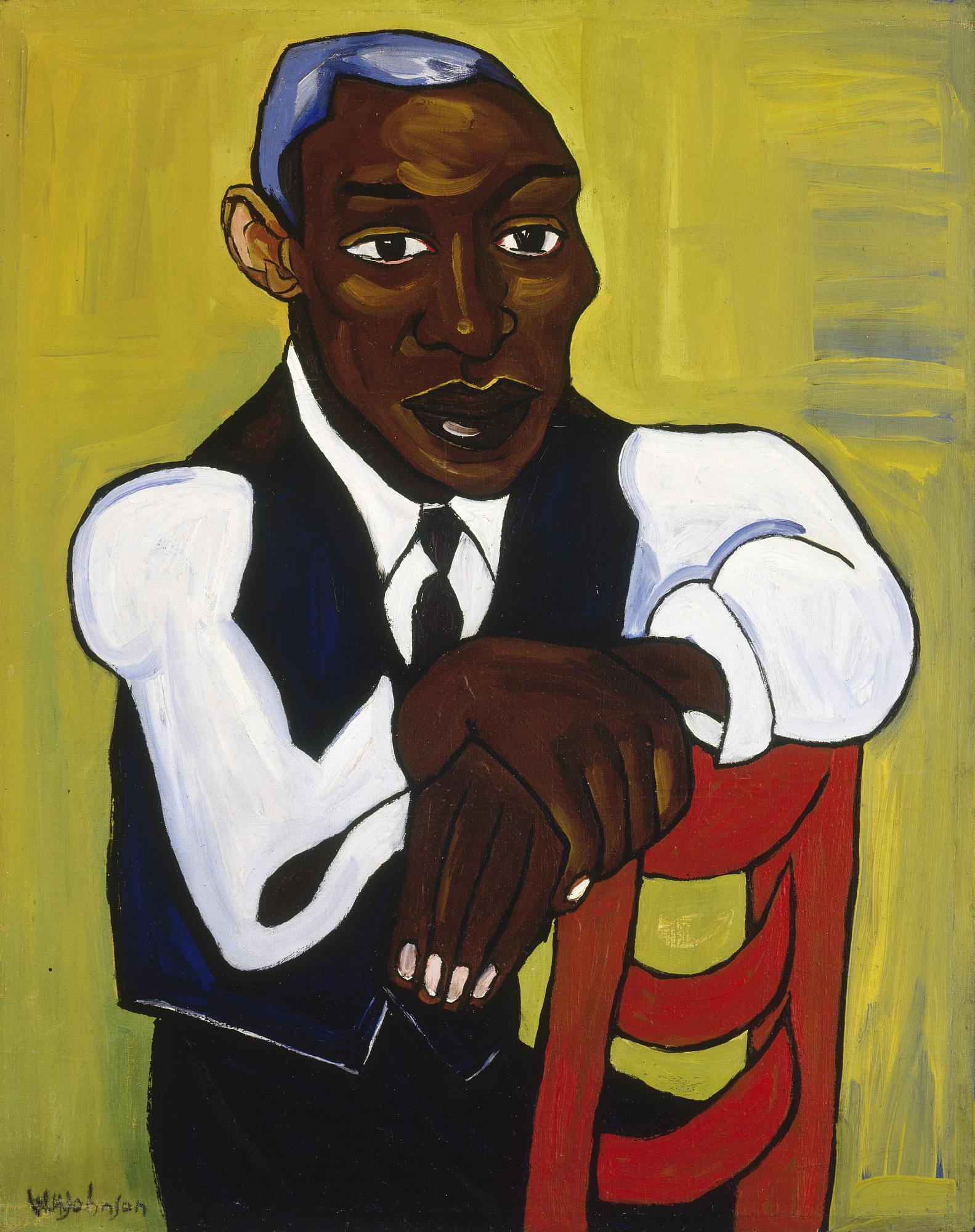 William H Johnson, Man in a Vest, 1939–1940