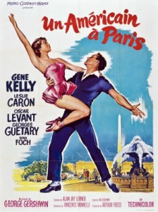 film poster for MGM musical An American in Paris, 1951