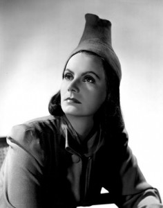 Greta Garbo in a truly wack hat