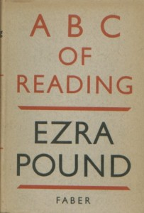 Ezra Pound, ABC of Reading, 1934.