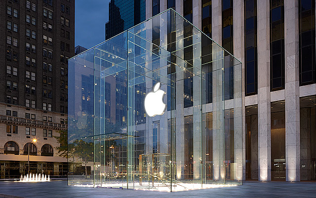 The Apple store on 5th Ave., New York.
