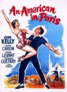 Film poster for An American in Paris, 1951.