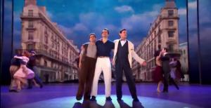"Adam (Brandon Uranowitz), Jerry, and Henri sing ""S'Wonderful"" at the 2015 Tony Awards."